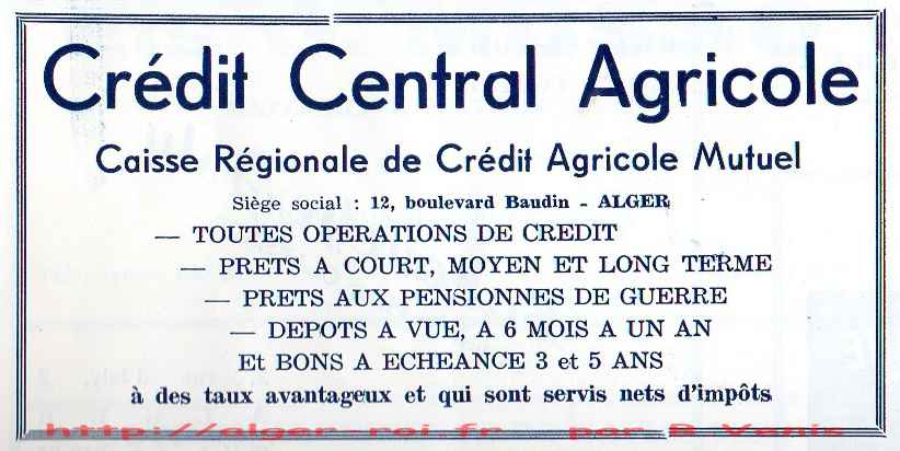 Agha credit mutuel agricole baudin http alger - Credot ilot centraal ...