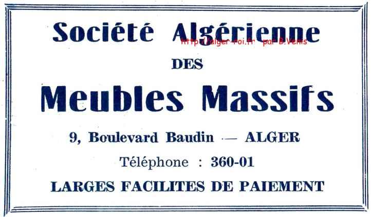 agha,societe algerienne des meubles massifs,baudin;http://alger-roi.fr
