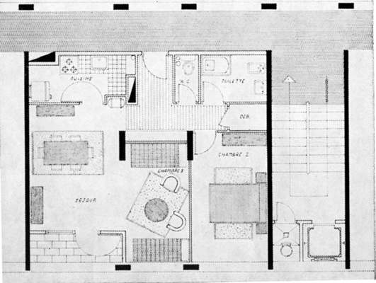 plan maison hlm