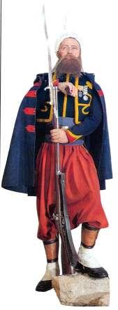 Zouave de la garde impériale.second empire.il porte la médaille