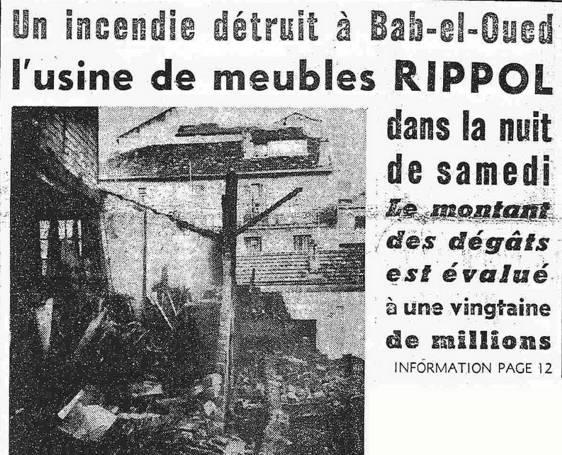 Bab El Oued Incendie Usine Meubles Rippol Http Alger