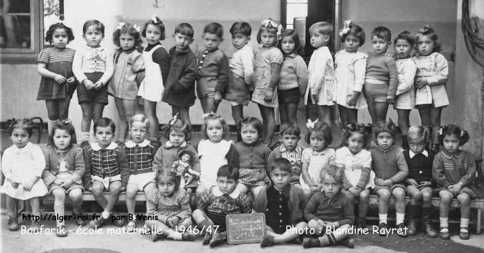 1946 1947 233 Cole Maternelle De Boufarik Village Alg 233 Rois