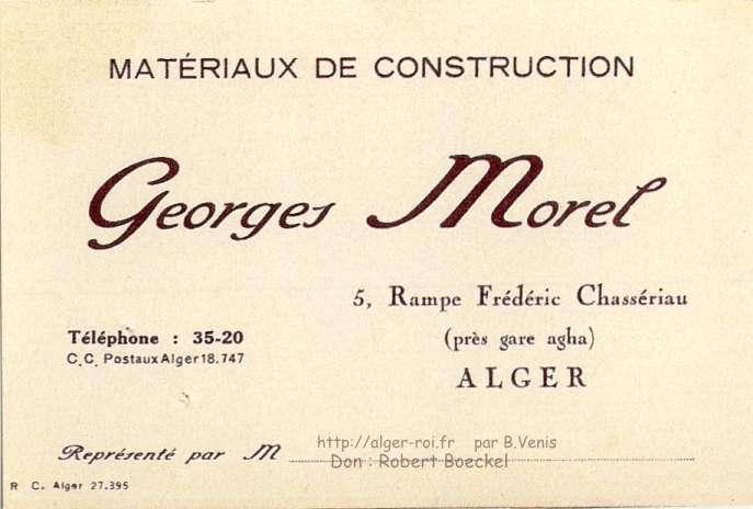 Carte de visite agha morel les materiaux de construction http alger - Materiaux de construction innovants ...