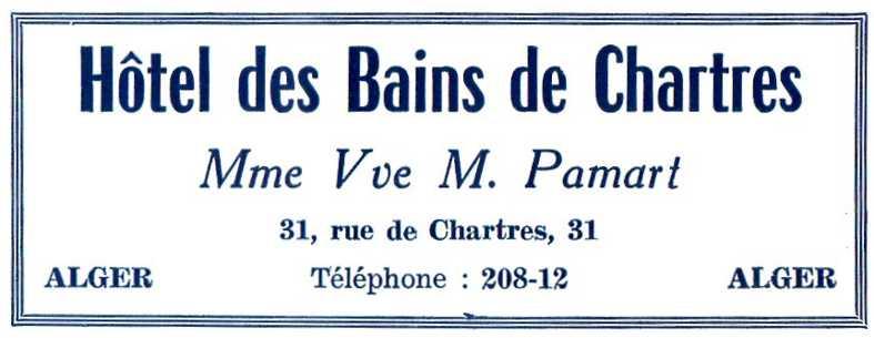 Casbah hotel des bains pamart rue de chartres et rue for Hotel des bains rue delambre