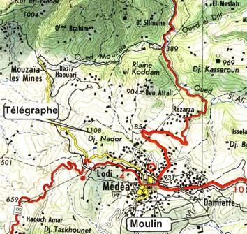 geographie de l'afrique du nord,le titteri des francais,les