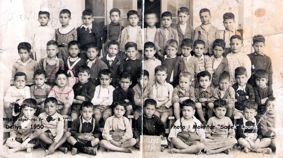 Dellys,1950,photos de classes;alger-roi.fr;venis Sadek