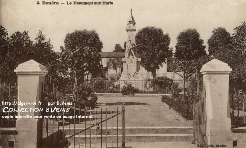 Dou ra le monument aux morts et son inauguration http for Jardin olof palme alger
