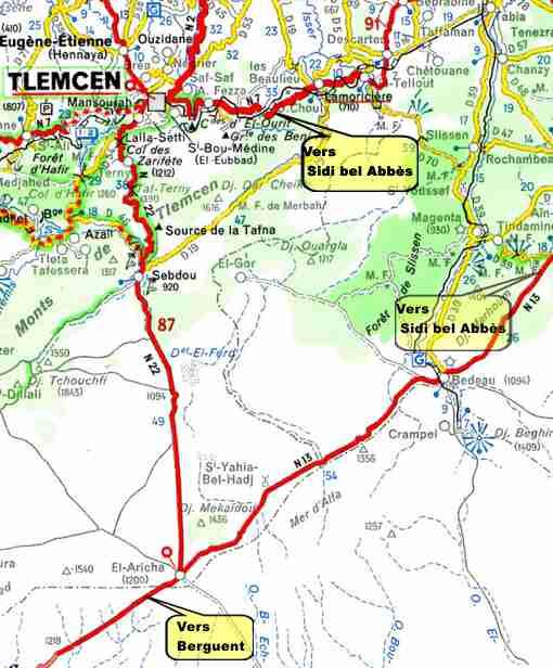 El aricha aricha environs de tlemcen http alger for Plan tlemcen
