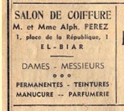 El biar salon de coiffure perez place republique http - Salon de coiffure alger ...