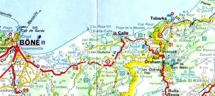 Carte Algerie Et Tunisie.La Calle Http Alger Roi Fr