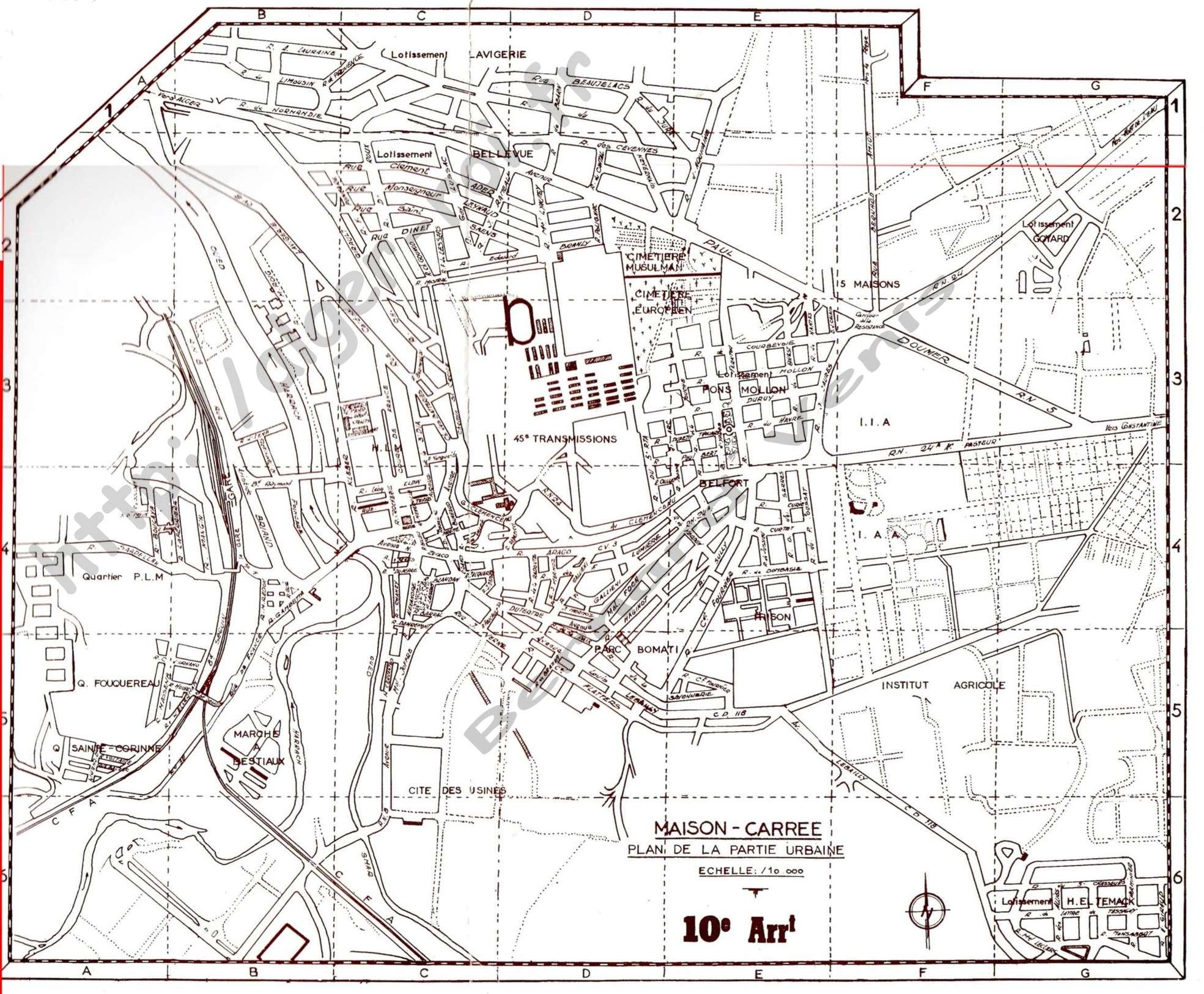Maison carree plan de la partie urbaine http alger roi for Plans de maisons urbaines