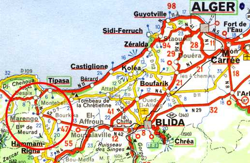 Carte Algerie Boufarik.Marengo A L Extremite De La Mitidja Villes Villages Algerie