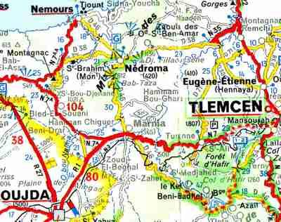 Carte Algerie Maghnia.Marnia Http Alger Roi Fr