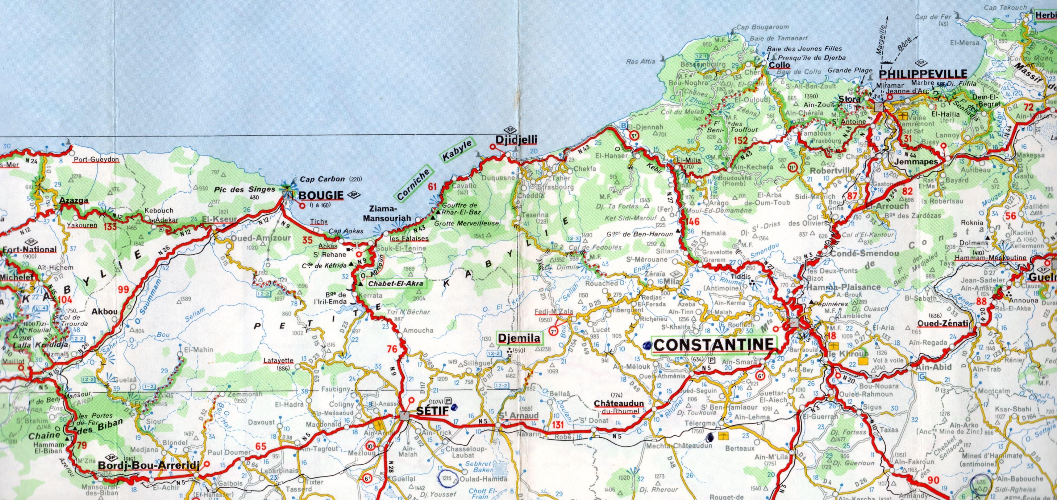 Carte Geographique De Lalgerie.Plans Schema Quartier Rues Alger Roi Fr