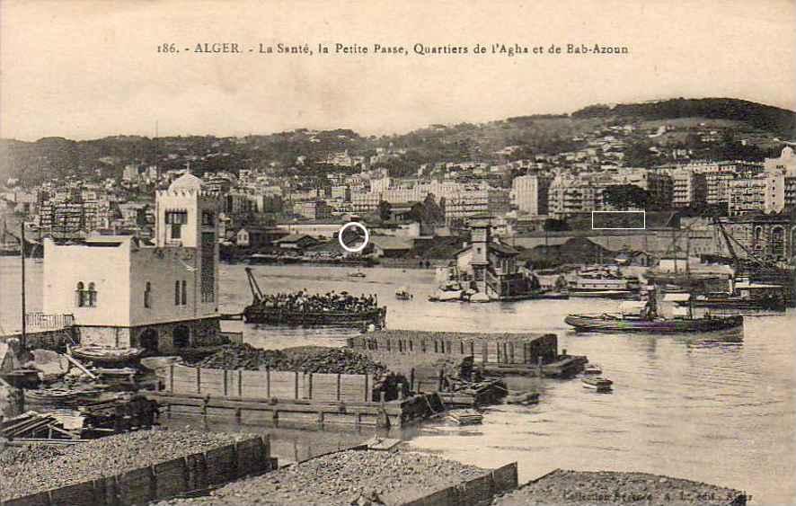 La gare maritime et le port ponton d 39 embarquement des - Port de marseille pour aller en algerie ...