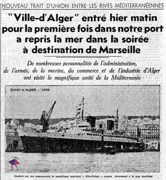 Le ville d 39 alger entre pour la premi re fois dans notre - Port de marseille pour aller en algerie ...