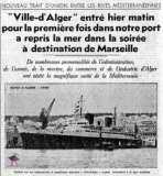 Paquebots navires dans le port d 39 alger avec les quais les - Port de marseille pour aller en algerie ...