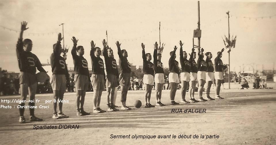 Universitaire >> RUA, racing universitaire d'Algérie,basket,spartiates d'oran,finale du championnat,1942;http ...