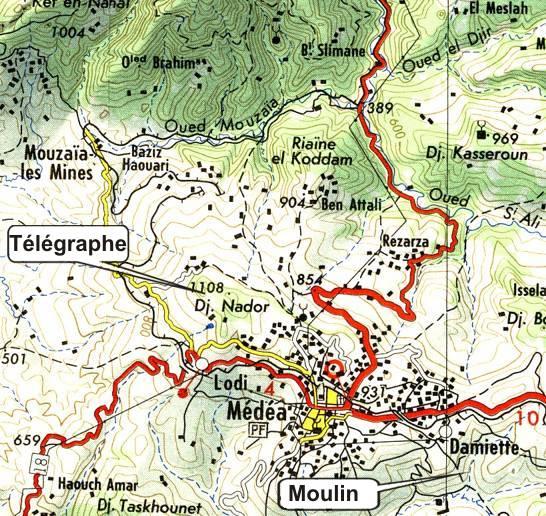 le titteri,villages de colonisation,lodi,damiette,telegraphe