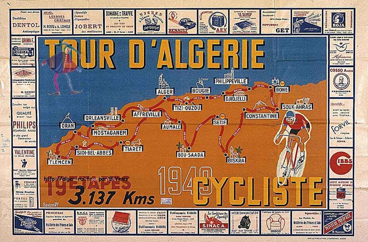 Le tour d 39 alg rie 1949 http alger for Carrelage monocouche tizi ouzou