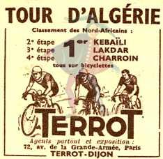 tour cycliste d'Algérie,mars 1952,zelasco,dotto, moineau ...