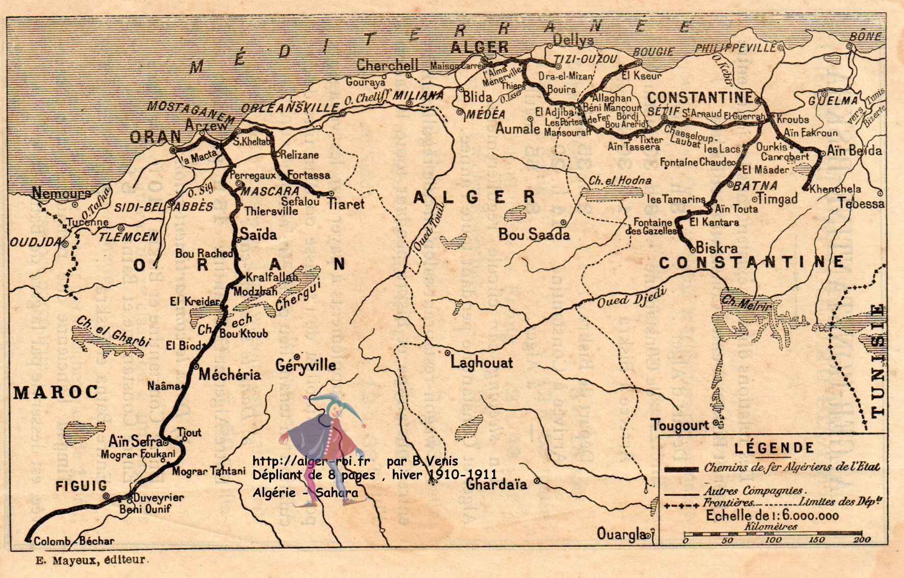 carte chemin de fer Carte des chemins de fer d'Algérie, algerie,sahara,alger, kabylie