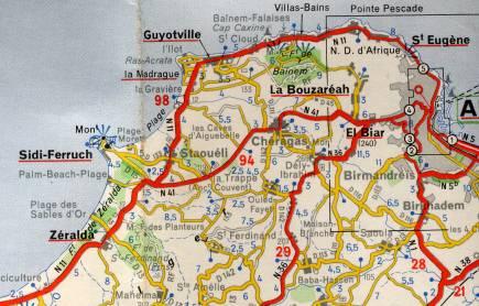 Carte Zeralda Algerie.Zeralda Village De L Algerois Plage De Sable Foret De Pins